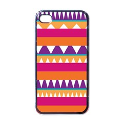 Stripes And Peaks Apple Iphone 4 Case (black) by LalyLauraFLM