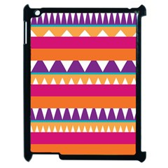 Stripes And Peaks Apple Ipad 2 Case (black) by LalyLauraFLM