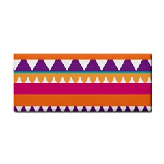 Stripes And Peaks Hand Towel by LalyLauraFLM