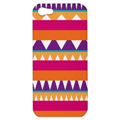 Stripes And Peaks Apple Iphone 5 Hardshell Case by LalyLauraFLM