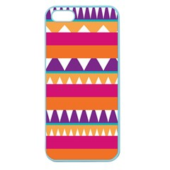 Stripes And Peaks Apple Seamless Iphone 5 Case (color) by LalyLauraFLM