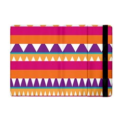 Stripes And Peaks Apple Ipad Mini Flip Case by LalyLauraFLM