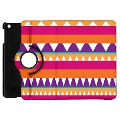 Stripes And Peaks Apple Ipad Mini Flip 360 Case by LalyLauraFLM