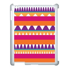 Stripes And Peaks Apple Ipad 3/4 Case (white) by LalyLauraFLM