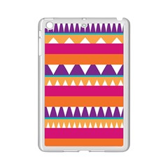 Stripes And Peaks Apple Ipad Mini 2 Case (white) by LalyLauraFLM