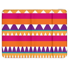 Stripes And Peaks Samsung Galaxy Tab 7  P1000 Flip Case by LalyLauraFLM