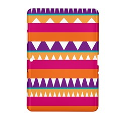Stripes And Peaks Samsung Galaxy Tab 2 (10 1 ) P5100 Hardshell Case  by LalyLauraFLM