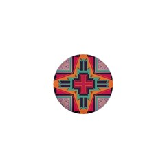 Tribal Star 1  Mini Button by LalyLauraFLM