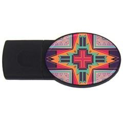 Tribal Star Usb Flash Drive Oval (4 Gb) by LalyLauraFLM