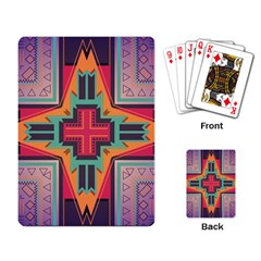 Tribal Star Playing Cards Single Design by LalyLauraFLM