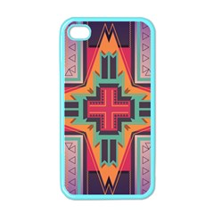 Tribal Star Apple Iphone 4 Case (color) by LalyLauraFLM