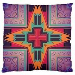 Tribal Star Large Cushion Case (two Sides) by LalyLauraFLM