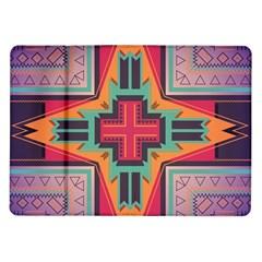 Tribal Star Samsung Galaxy Tab 10 1  P7500 Flip Case by LalyLauraFLM