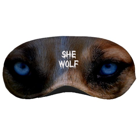 She Wolf Sleeping Mask By Gabby Fyfe   Sleeping Mask   Tw5c5r9cfjk3   Www Artscow Com Front