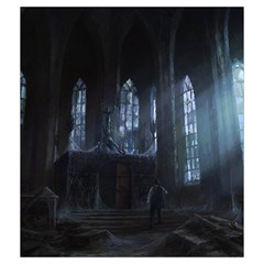 Lovecraft V3 By Thomas Covert   Drawstring Pouch (medium)   Xmomviekutja   Www Artscow Com Back