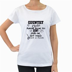 Country Chicks Women s Loose Fit T Shirt (white)
