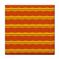Red Waves Face Towel by LalyLauraFLM
