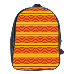 Red Waves School Bag (large) by LalyLauraFLM