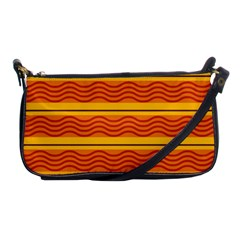 Red Waves Shoulder Clutch Bag by LalyLauraFLM