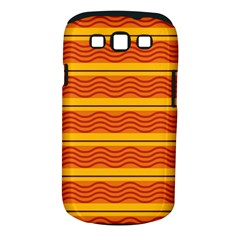 Red Waves Samsung Galaxy S Iii Classic Hardshell Case (pc+silicone) by LalyLauraFLM