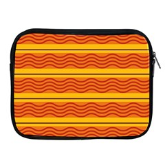 Red Waves Apple Ipad 2/3/4 Zipper Case by LalyLauraFLM