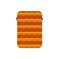 Red Waves Apple Ipad Mini Protective Soft Case by LalyLauraFLM