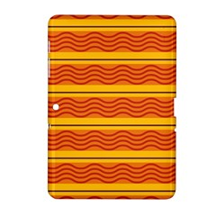 Red Waves Samsung Galaxy Tab 2 (10 1 ) P5100 Hardshell Case  by LalyLauraFLM