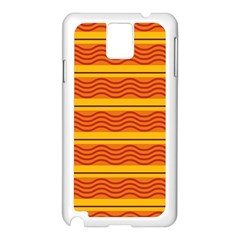 Red Waves Samsung Galaxy Note 3 N9005 Case (white) by LalyLauraFLM