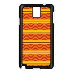 Red Waves Samsung Galaxy Note 3 N9005 Case (black) by LalyLauraFLM