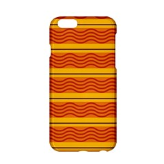 Red Waves Apple Iphone 6 Hardshell Case by LalyLauraFLM