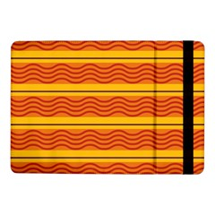 Red Waves	samsung Galaxy Tab Pro 10 1  Flip Case by LalyLauraFLM