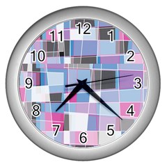 Patches Wall Clock (silver) by LalyLauraFLM