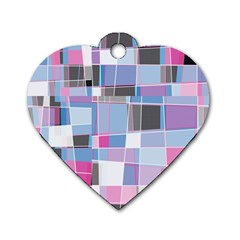 Patches Dog Tag Heart (one Side) by LalyLauraFLM