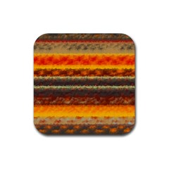 Fading Shapes Texture Rubber Square Coaster (4 Pack) by LalyLauraFLM