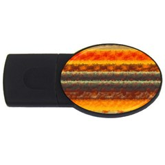 Fading Shapes Texture Usb Flash Drive Oval (2 Gb) by LalyLauraFLM