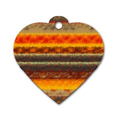 Fading Shapes Texture Dog Tag Heart (one Side) by LalyLauraFLM