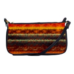 Fading Shapes Texture Shoulder Clutch Bag by LalyLauraFLM