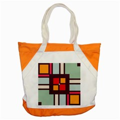 Squares And Stripes  Accent Tote Bag by LalyLauraFLM