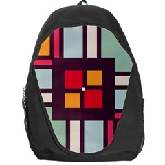 Squares And Stripes  Backpack Bag by LalyLauraFLM