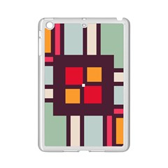 Squares And Stripes  Apple Ipad Mini 2 Case (white) by LalyLauraFLM