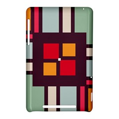 Squares and stripes  Google Nexus 7 (2012) Hardshell Case by LalyLauraFLM