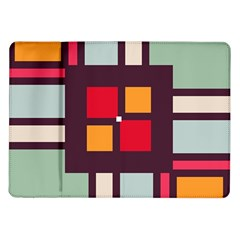 Squares And Stripes  Samsung Galaxy Tab 10 1  P7500 Flip Case by LalyLauraFLM