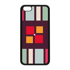 Squares And Stripes  Apple Iphone 5c Seamless Case (black) by LalyLauraFLM