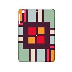 Squares And Stripes  Apple Ipad Mini 2 Hardshell Case by LalyLauraFLM