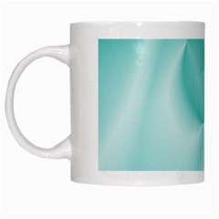 Colors In Motion,teal White Mugs by MoreColorsinLife