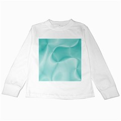 Colors In Motion,teal Kids Long Sleeve T Shirts by MoreColorsinLife