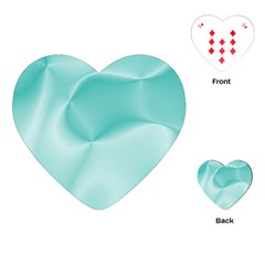 Colors In Motion,teal Playing Cards (heart)
