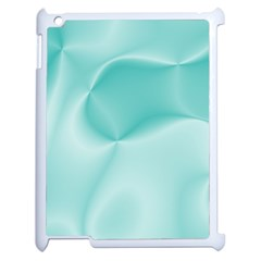 Colors In Motion,teal Apple Ipad 2 Case (white) by MoreColorsinLife