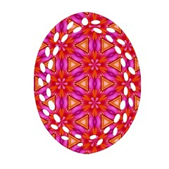 Cute Pretty Elegant Pattern Oval Filigree Ornament (2-Side)  by creativemom