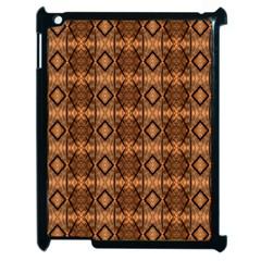 Faux Animal Print Pattern Apple Ipad 2 Case (black) by creativemom